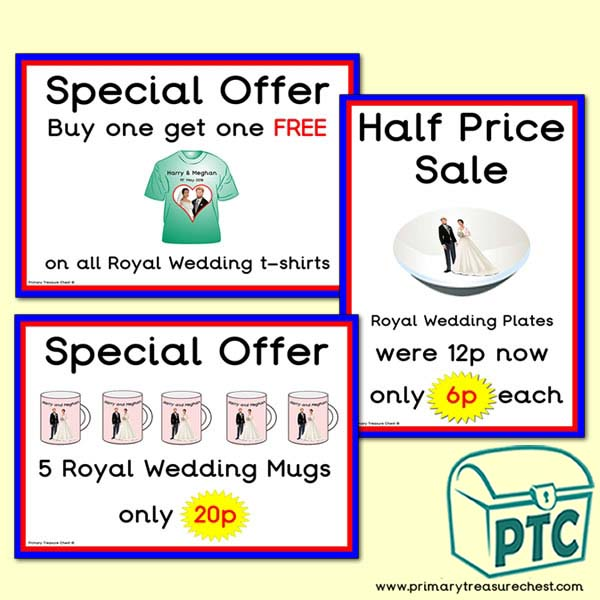 London Gift Shop Royal Wedding Offers (1 to 20p)