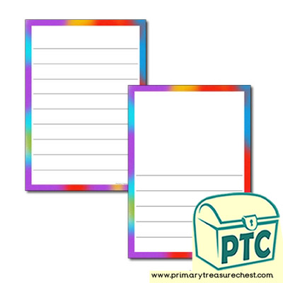 Holi Themed Page Border - Wide Lines