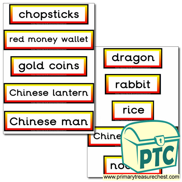 Chinese Themed Display Words
