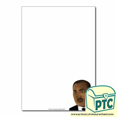 Martin Luther King Jr Themed  Page Border/Writing Frame (no lines)