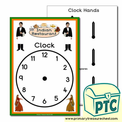 Indian Restaurant Role Play Clock