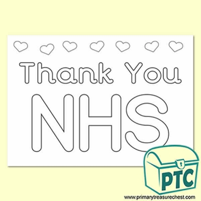 Thank You NHS Colouring in Poster