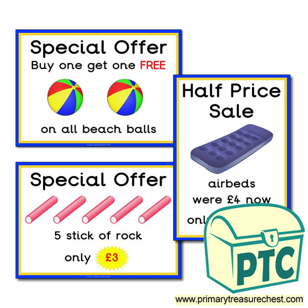 Seaside Shop Special Offers (21p-£99)