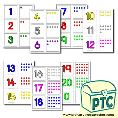 Matching Numbers 0 20 Primary Treasure Chest