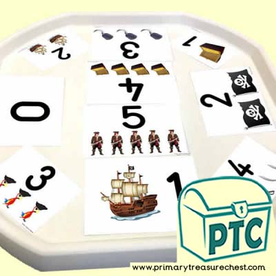 Pirate Themed Number Tuff Tray Cards