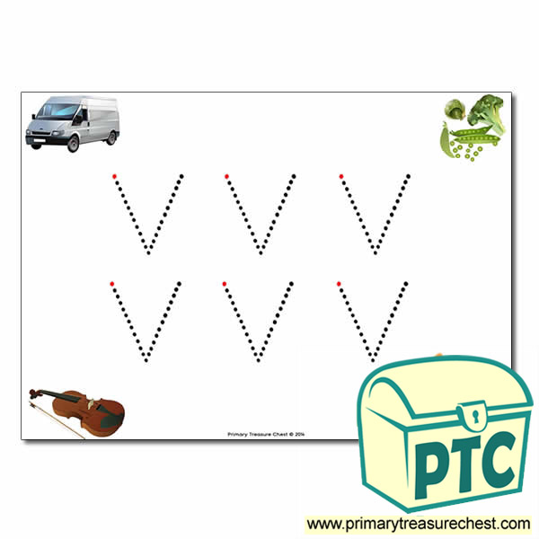 'v' Lowercase Letter Formation Activity - Join the Dots