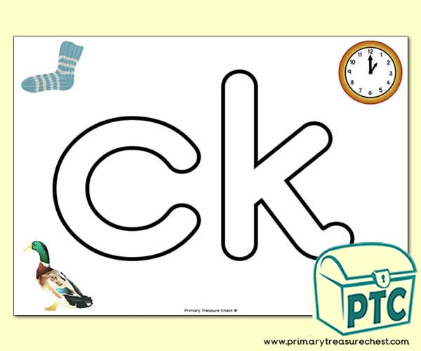 'ck' Lowercase Bubble Letter A4 Poster containing high quality and realistic images