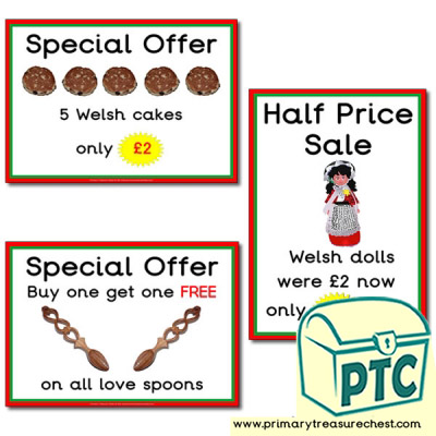 Welsh Gift Shop Special Offers (21p-£99)