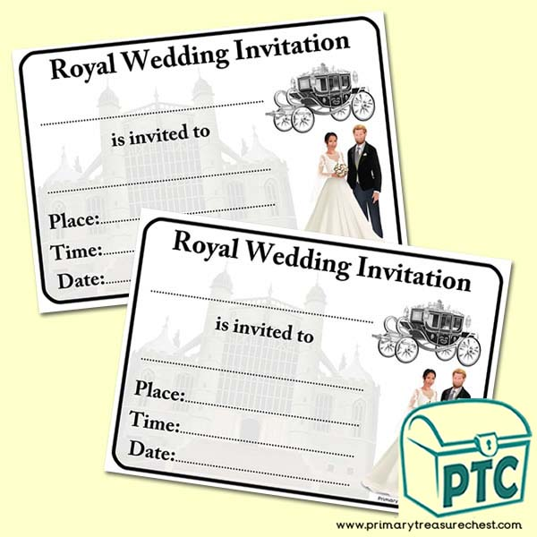 14++ Prince Harry Wedding Invitation
