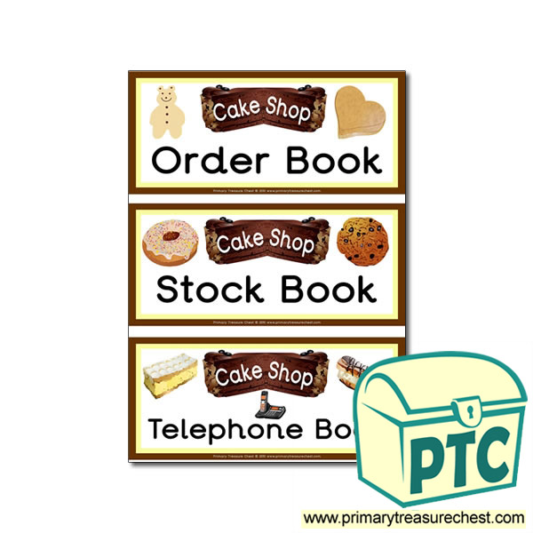 'Cake Shop' Themed Book Labels