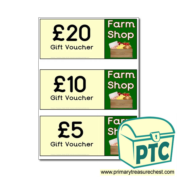 Role Play Farm Shop Shopping vouchers