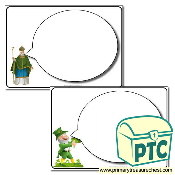 'Saint Patrick's Day' Speech Bubbles Worksheet