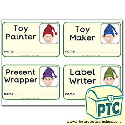 'Santa's Workshop' Elf Badges