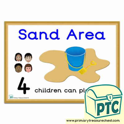 How Many Children Can Play Here Sand Area Poster Number