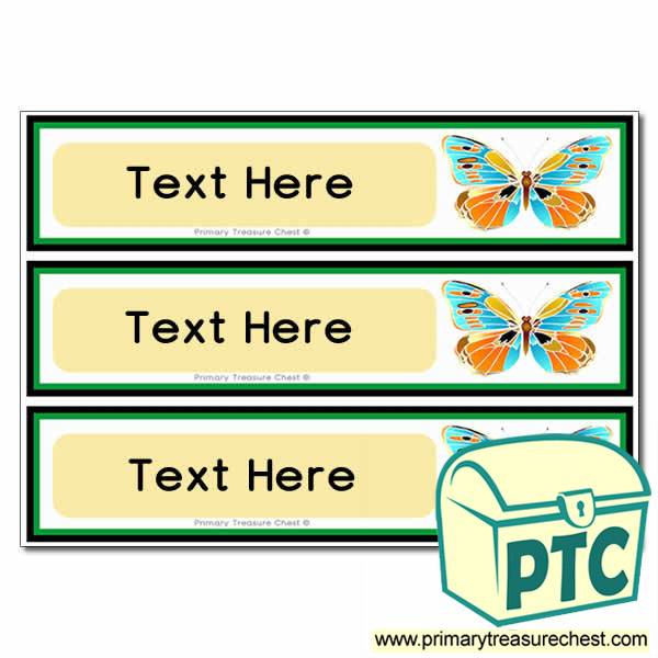 Butterfly Pupil Drawer Labels (Large)