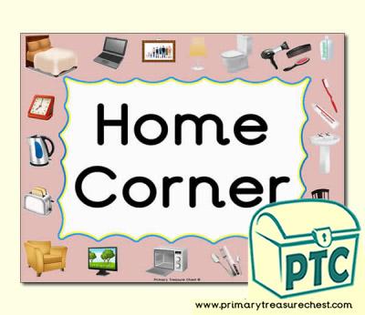 home corner area sign for the classroom primary treasure