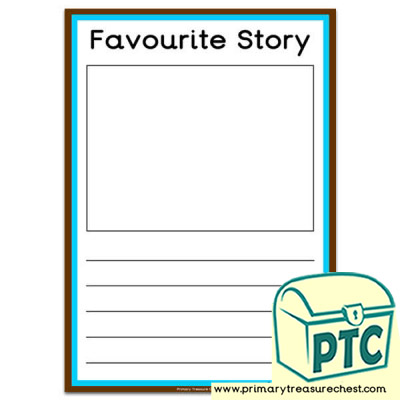 'Favourite Story' worksheet