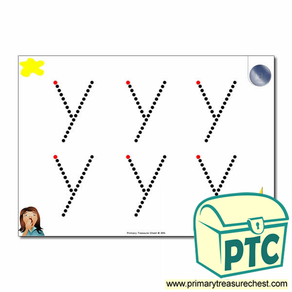 'y' Lowercase Letter Formation Activity - Join the Dots