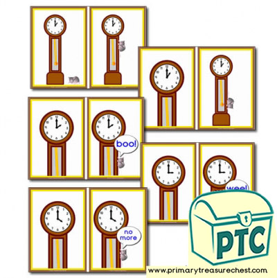 Hickory Dickory Dock Sequence Cards