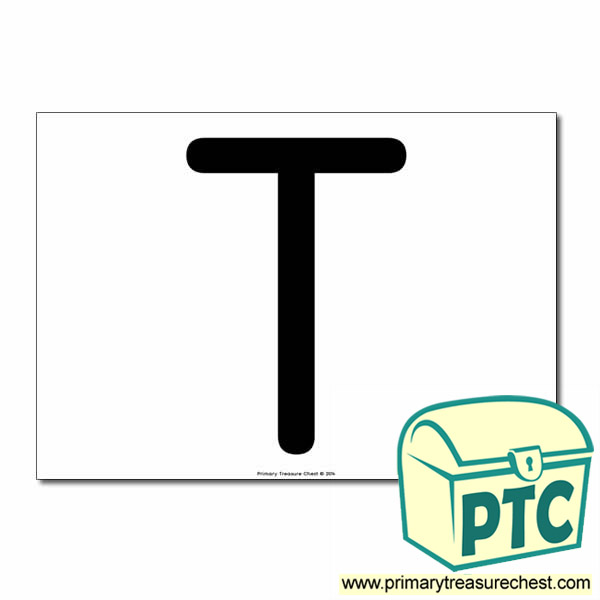 'T' Uppercase Letter A4 poster  (No Images)