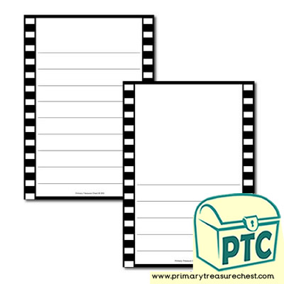 Camera Film Themed Page Border/Writing Frame (wide lines)