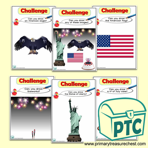 Independence Day Themed ICT Challenge Cards