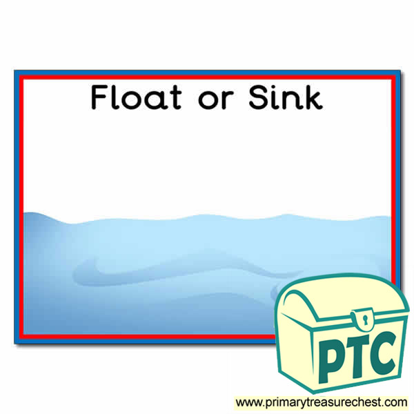 Floating and Sinking A3 Interactive Activity