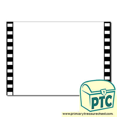 Camera Film Themed Landscape Page Border/Writing Frame (no lines)