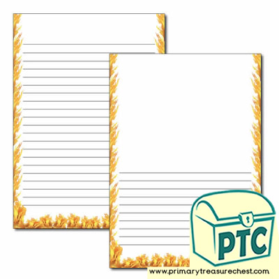 Fire Themed Page Border/Writing Frame (narrow lines)