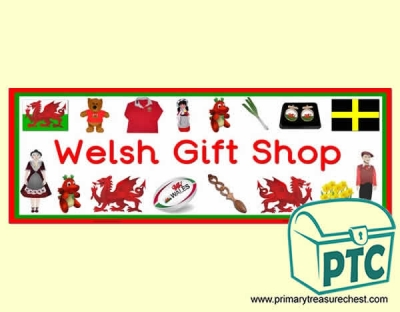 'Welsh Gift Shop' Display Heading/ Classroom Banner