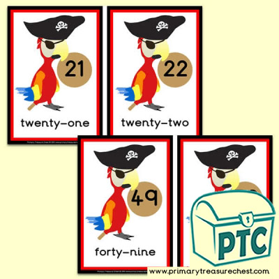 Pirate parrot  Number Line 21 to 50
