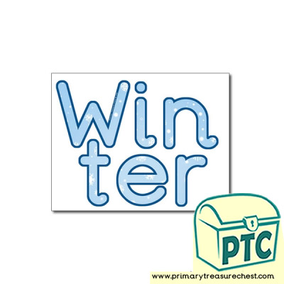 'Winter' Display Letters