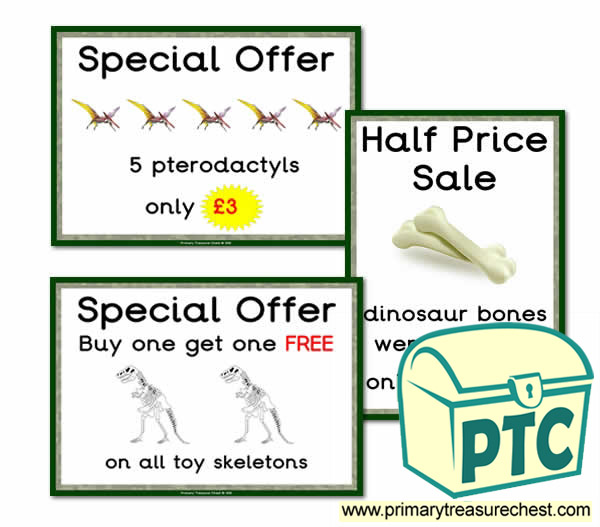 Role Play Dinosaur Gift Shop PSpecial Offers