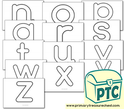 Alphabet Playdough Mats - Lower Case (n-z)