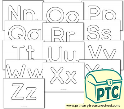 Alphabet Playdough Mats (Nn-Zz)