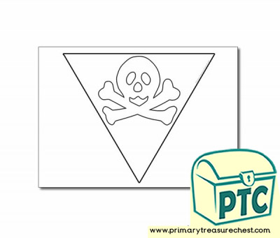 Pirate Bunting Colouring Sheet