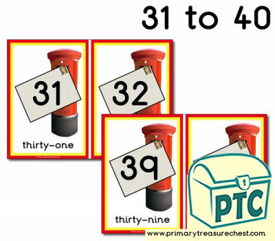 Postbox Number Line 31-40