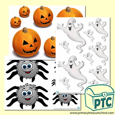 We're Going on a Halloween Hunt Sizes Activity Sheet Images
