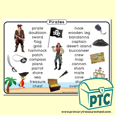 Pirate Themed Word Mat