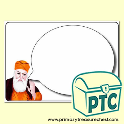 Guru Nanak Speech Bubble Worksheet