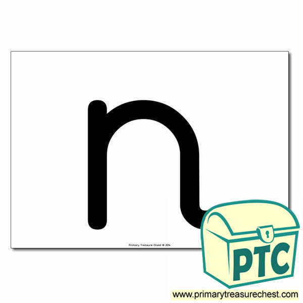 'n' Lowercase Letter A4 poster  (No Images)