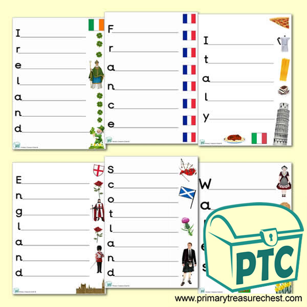 Italy Acrostic Poem Worksheet