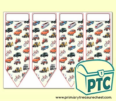 Land Transport Themed Bookmarks