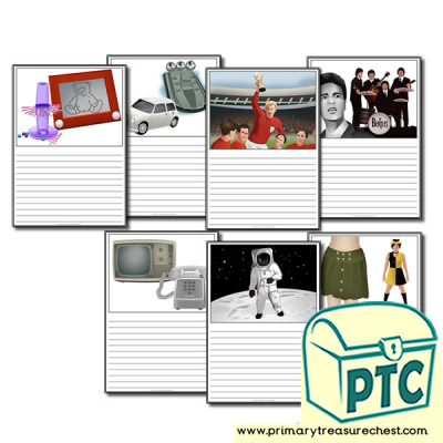 1960s Sport, Music, Games, Fashion, Technology and Space worksheets
