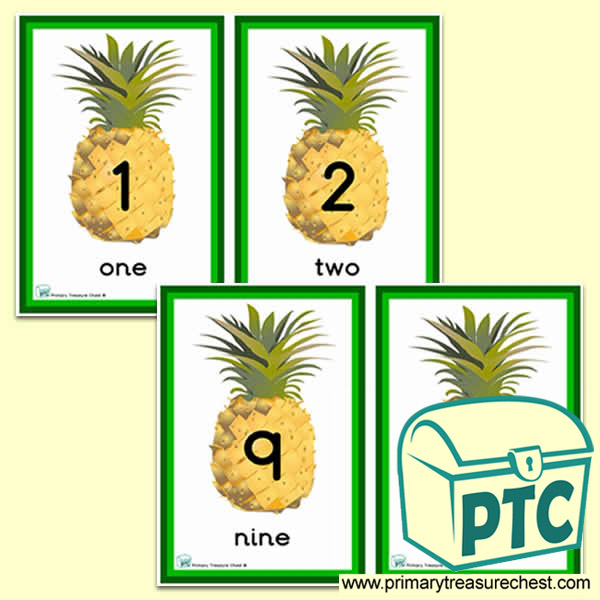 Pineapple Themed Number Line 0-10