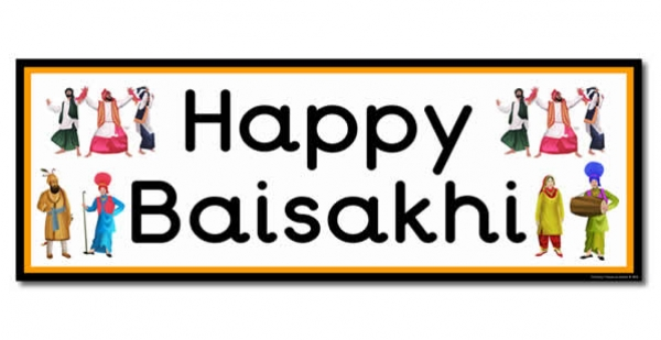 'Happy Baisakhi' Display Heading/ Classroom Banner