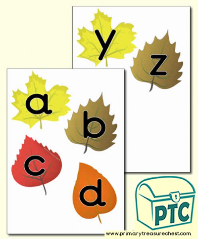 Autumn Leaves Alphabet
