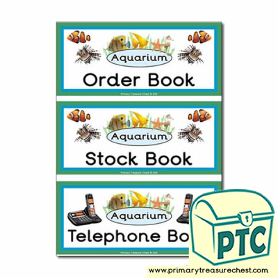 Aquarium Role Play Book Covers / Labels