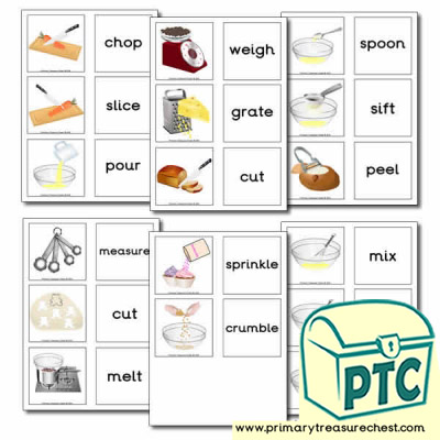 Cooking Equipment Themed Matching Cards (Actions)