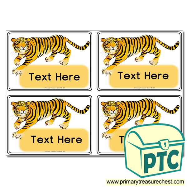 Tiger Themed Registration Name Cards